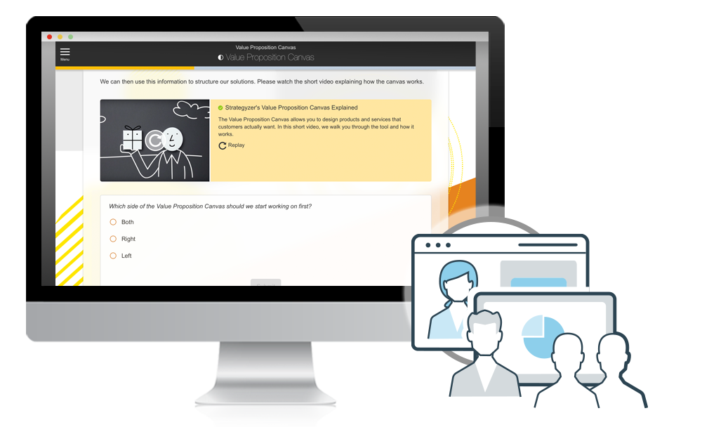 Blended Learning Screen Example
