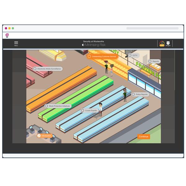 Business Scenarios Example Screen